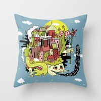 A Place To Escape. Throw Pillow