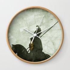 Horrified by the Sun Wall Clock