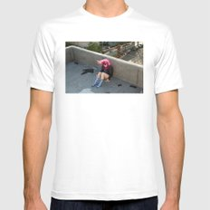 Nina. White Mens Fitted Tee SMALL