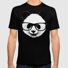 Mr. Panda Mens Fitted Tee Black SMALL