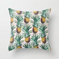 Pineapple Trellis Throw Pillow
