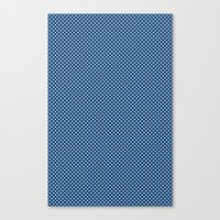 Navy Spotty Pattern Design Canvas Print