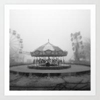 Silent Beach Park Art Print