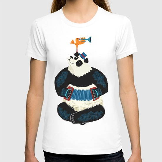 Panda Piazzolla and The Trumpet Bird T-shirt