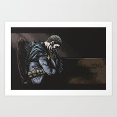 Brooding Batcave Art Print