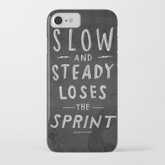 slow and steady loses the sprint blk&wht iPhone 7 Slim Case