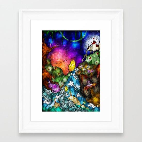 Wonderland (Once Upon A Time Series) Framed Art Print