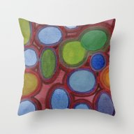 Moving Coloured Round Sh… Throw Pillow