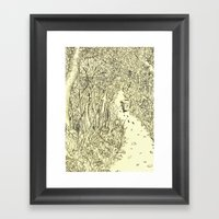 Following Footprints Framed Art Print