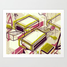 Matchbox Art Print