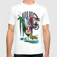 S P Mens Fitted Tee White SMALL