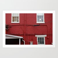The Red Wall Art Print