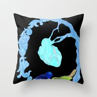 Two Birds And A Heart Throw Pillow