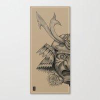 Samurai Mask Version B Canvas Print
