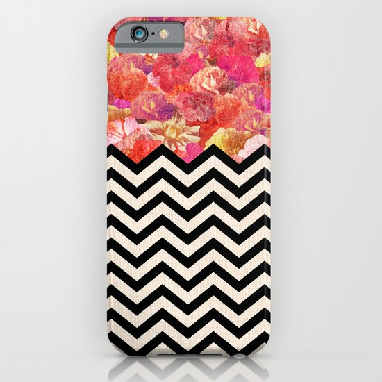 Chevron Flora iPhone & iPod Case