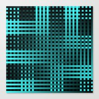 Teal Weave Canvas Print