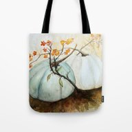 Tote Bag featuring Pumpkin Patch - Watercol… by Craftberrybush