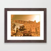 Little Italy Framed Art Print
