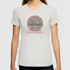 Imperial Lunch Break Womens Fitted Tee Silver SMALL