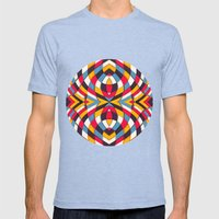 Stained Glass Mens Fitted Tee Tri-Blue SMALL