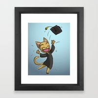 Graduate Cat Framed Art Print
