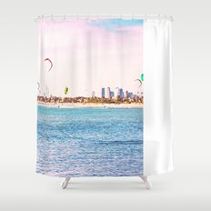 Windsurfing at St Kilda Shower Curtain
