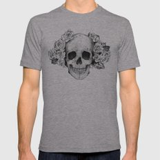 SKULL Mens Fitted Tee Athletic Grey SMALL