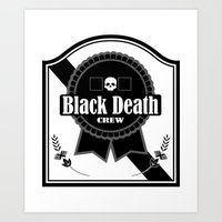 Black Death Ribbon Art Print