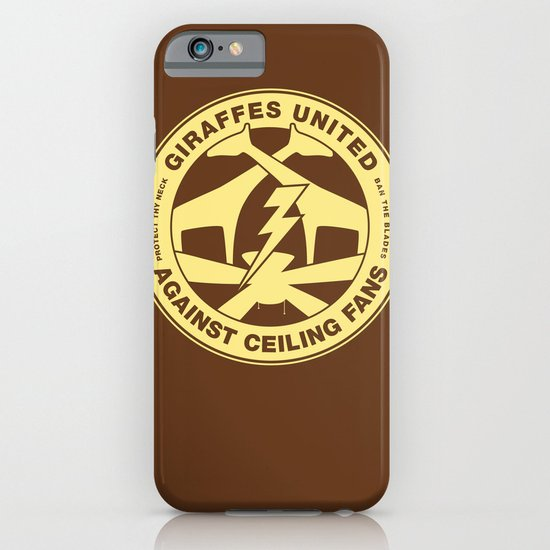 Giraffes United Against Ceiling Fans iPhone & iPod Case