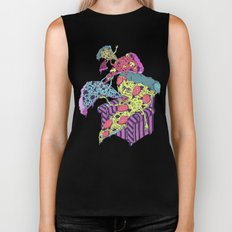 Pizza Eating Pizza - Pink Edition Biker Tank