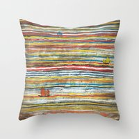 Three Junks Throw Pillow
