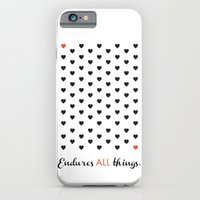 Love Endures All (Blk/Red) iPhone 6 Slim Case