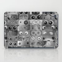 Eyes Eyes Eyes BW iPad Case