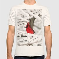 Standing Out Mens Fitted Tee Natural SMALL