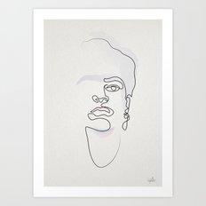 Half-a-Frida: One line Art Print