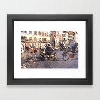 Artists At Piazza Navona… Framed Art Print