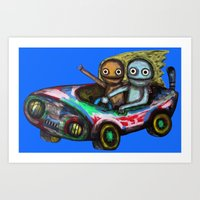 A trip by car Art Print