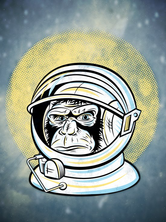 Space Ape Art Print