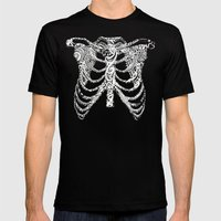 Ribcage Tattoo Mens Fitted Tee Black SMALL