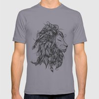 Poetic Lion B&W Mens Fitted Tee Slate SMALL