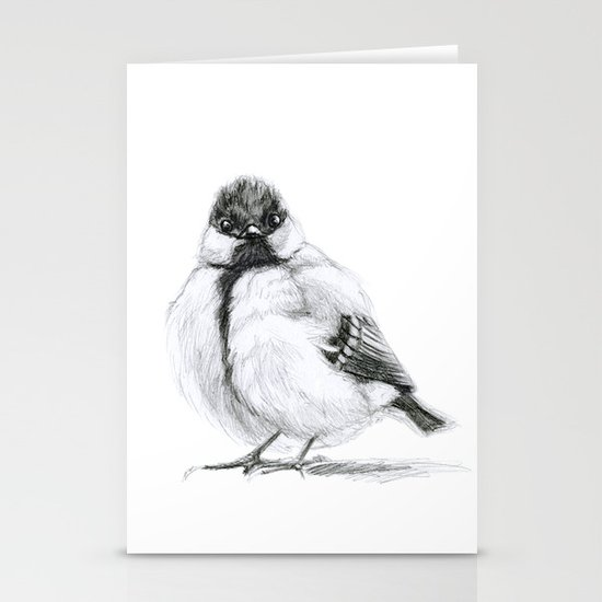 Great Tit (Parus major) Stationery Card