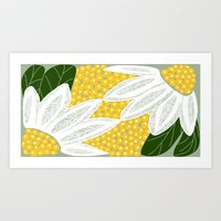 Large Scale Dasies Art Print