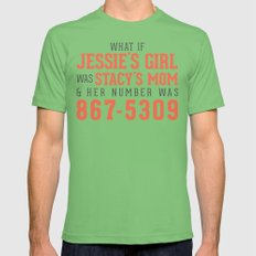 JENNY I GOT YO NUMBA Mens Fitted Tee Grass SMALL