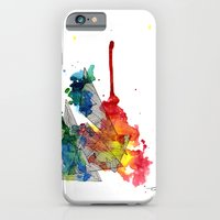 Watercolor and Fine Liner Triangles iPhone 6 Slim Case