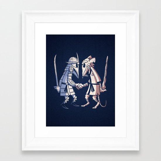 Sensei vs Sensei Framed Art Print