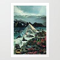 The Spirit Of The Waves.… Art Print
