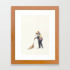Road Sweeper Framed Art Print