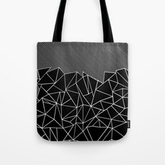 Ab Lines 45 Black Tote Bag