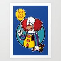 Krustywise The Clown Art Print