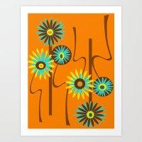 Mod Flowers Alastair Art Print